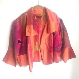 Farley Woman Multicolor Open Front Silk  Jacket
